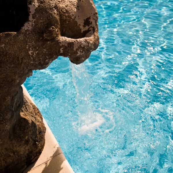 La piscina, dettaglio, Hotel Altura - Villasimius